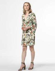 Sukienka Marc Cain prosta z długim rękawem z jedwabiu
