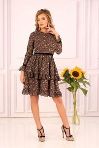 Sukienka MERRIBEL w stylu casual z długim rękawem mini