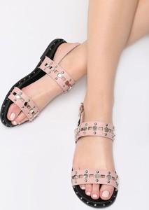Różowe sandały Multu z płaską podeszwą