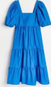 Sukienka Reserved trapezowa z krótkim rękawem mini