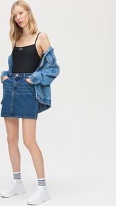 Niebieska spódnica Cropp w stylu casual z jeansu