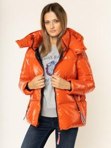 Pomarańczowa kurtka Tommy Hilfiger w stylu casual