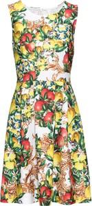 Sukienka bonprix BODYFLIRT boutique rozkloszowana bez rękawów w stylu boho