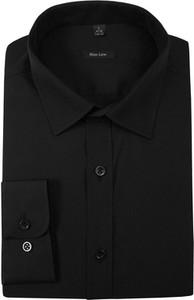 Czarna koszula Grzegorz Moda Męska z długim rękawem z bawełny