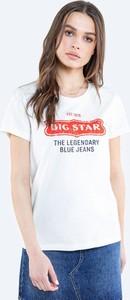 Bluzka Big Star z krótkim rękawem w młodzieżowym stylu z bawełny