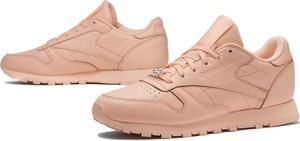 Różowe buty sportowe Reebok w sportowym stylu z płaską podeszwą