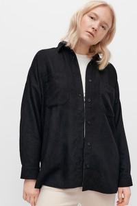 Czarna koszula Reserved ze sztruksu