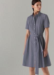 Sukienka Mohito rozkloszowana z kołnierzykiem w stylu casual