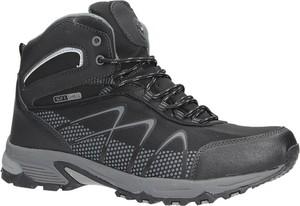 Czarne buty trekkingowe Casu sznurowane
