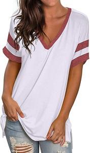 Bluzka Sandbella z krótkim rękawem z dekoltem w kształcie litery v