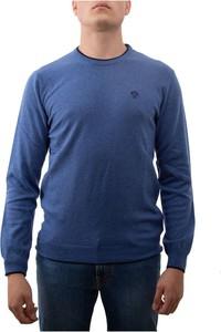 Niebieski sweter North Sails z okrągłym dekoltem z dżerseju w stylu casual