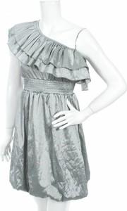 Sukienka Eve asymetryczna z asymetrycznym dekoltem