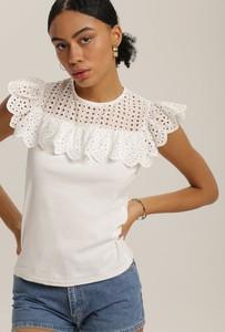 Bluzka Renee z okrągłym dekoltem z krótkim rękawem