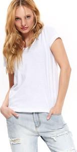 T-shirt Top Secret w stylu casual z okrągłym dekoltem z krótkim rękawem