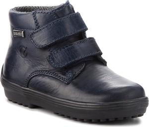Granatowe buty dziecięce zimowe Naturino ze skóry