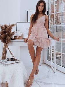 Różowa sukienka Dstreet bez rękawów z dekoltem w kształcie litery v