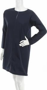 Niebieska sukienka Maud Heline z długim rękawem