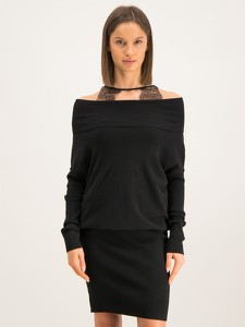 Czarna sukienka Liu-Jo prosta