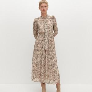 Sukienka Reserved w stylu boho trapezowa z długim rękawem