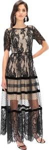 Sukienka Lavard z okrągłym dekoltem z krótkim rękawem