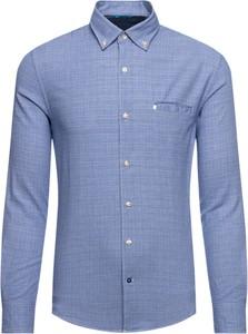 Niebieska koszula Pierre Cardin z kołnierzykiem button down z długim rękawem