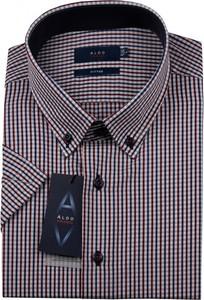 Koszula Aldo Vrandi z tkaniny z klasycznym kołnierzykiem