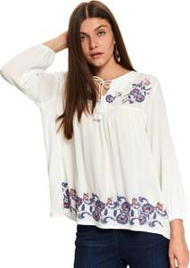 Bluzka Top Secret z tkaniny w stylu etno z długim rękawem