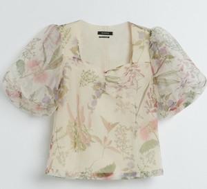 Bluzka Reserved z krótkim rękawem z okrągłym dekoltem w stylu casual