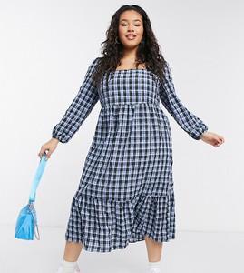 Sukienka New Look midi z długim rękawem