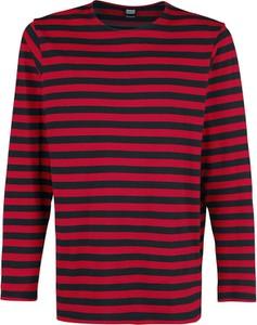 Czerwony t-shirt Emp z długim rękawem z bawełny