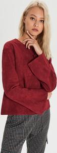 Czerwona bluza Cropp krótka