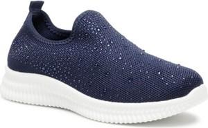 Granatowe buty sportowe BASSANO z płaską podeszwą