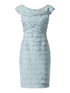 Niebieska sukienka Christian Berg Cocktail z krótkim rękawem