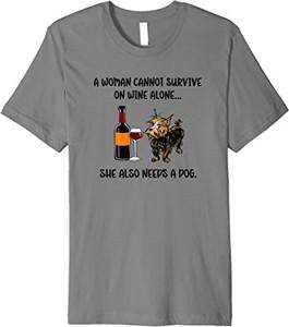 Bluzka Women Wine & Dogs Tees Ltd. w młodzieżowym stylu
