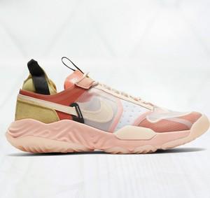 Różowe buty sportowe Nike sznurowane