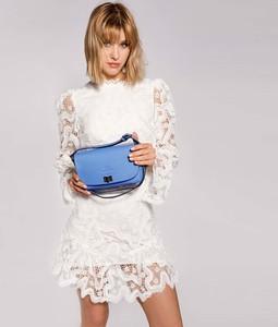 Niebieska torebka Wittchen w stylu casual matowa