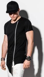 Czarny t-shirt Ombre