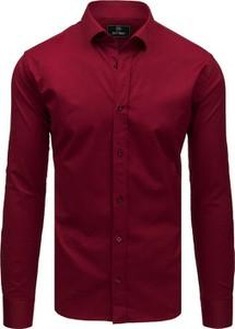 Czerwona koszula Dstreet z długim rękawem