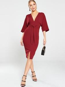 Sukienka V by Very ołówkowa z dekoltem w kształcie litery v midi