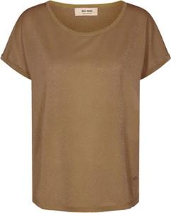 Brązowy t-shirt Mos Mosh z krótkim rękawem