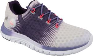 Fioletowe buty sportowe Reebok z płaską podeszwą sznurowane w sportowym stylu