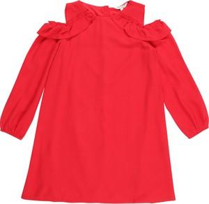 Czerwona sukienka dziewczęca Review For Teens z tkaniny