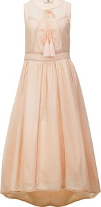 Sukienka Twinset bez rękawów w stylu boho z okrągłym dekoltem