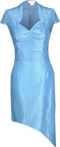 Niebieska sukienka Fokus mini z dekoltem w kształcie litery v