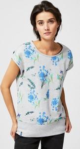 Bluza Moodo z okrągłym dekoltem z bawełny z krótkim rękawem