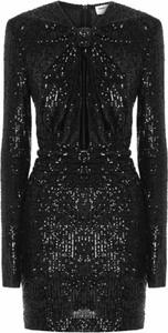 Sukienka SAINT LAURENT z długim rękawem z dzianiny