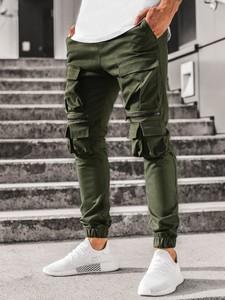 Zielone spodnie Ozonee z bawełny