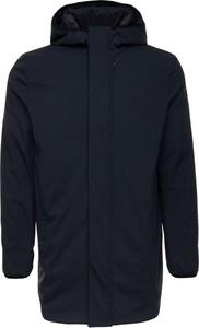 Granatowy płaszcz męski EA7 Emporio Armani w stylu casual