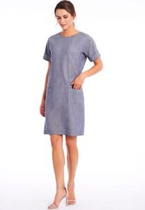 Sukienka Lavard z okrągłym dekoltem w stylu casual mini