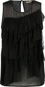 Czarna bluzka Liu-Jo w stylu boho bez rękawów